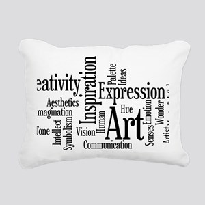 Art Word Cloud Rectangular Canvas Pillow