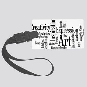 Art Word Cloud Large Luggage Tag