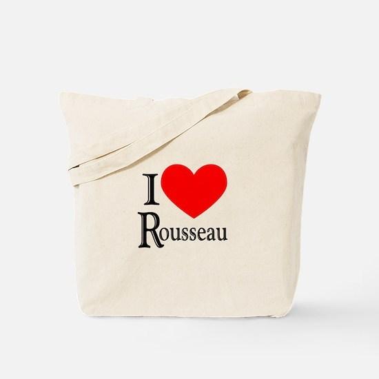 I Love Rousseau Tote Bag