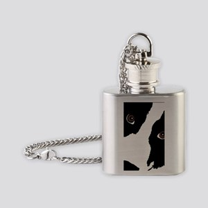 bc watching ewe Flask Necklace