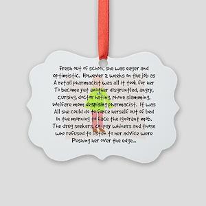 pharmacist story art 1 fem backgr Picture Ornament