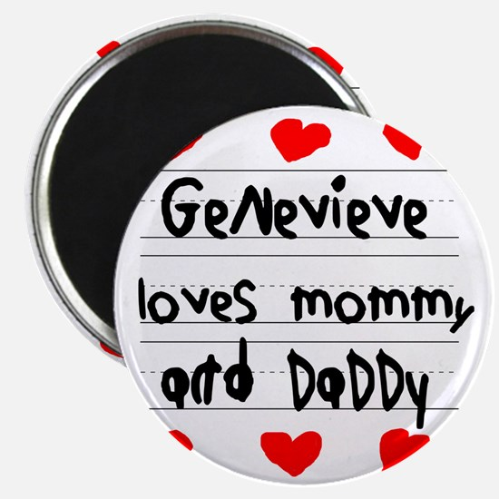 Genevieve Loves Mommy and Daddy Magnet