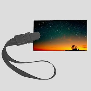 Orange sunset with Orion, Gemini Large Luggage Tag