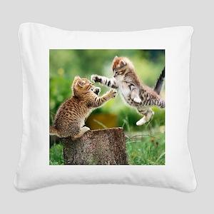 Ninja Kittens Square Canvas Pillow