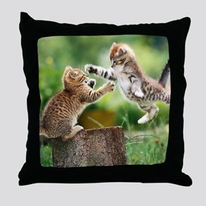 Ninja Kittens Throw Pillow