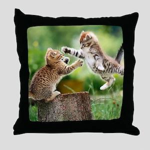 Ninja Kittens Throw Pillow