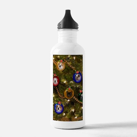 Bulldog Ornament Chris Water Bottle