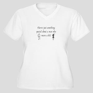 Man in a Kilt Women's Plus Size V-Neck T-Shirt
