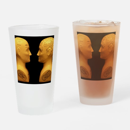 Phrenology busts Drinking Glass