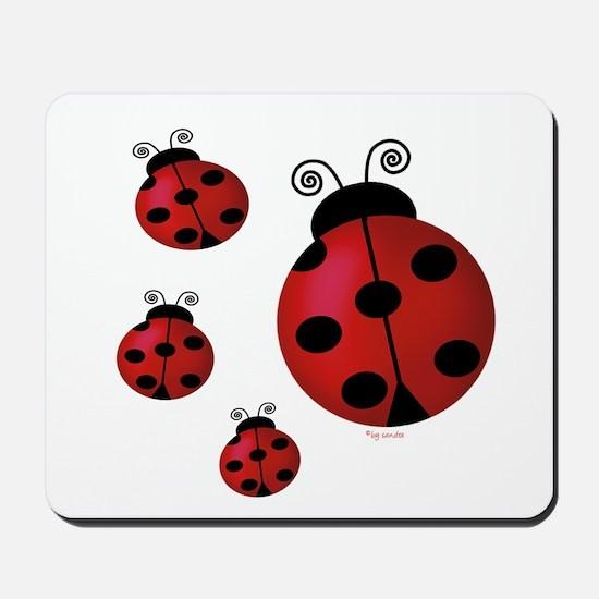 Four ladybugs Mousepad