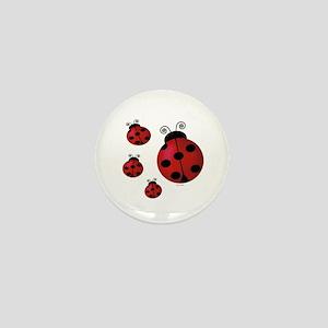 Four ladybugs Mini Button
