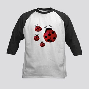 Four ladybugs Kids Baseball Jersey