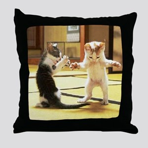 Kung Fu Kittens Throw Pillow