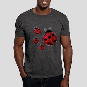 Four ladybugs Dark T-Shirt