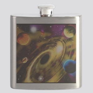 Planets around a black hole Flask