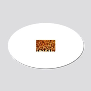 Purkinje nerve cells 20x12 Oval Wall Decal