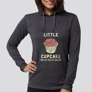 Delta Delta Delta Little Cupca Womens Hooded Shirt