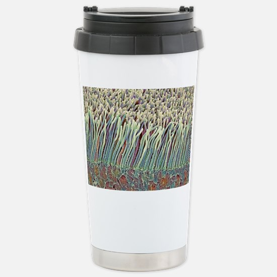 Retina rod cells, SEM Stainless Steel Travel Mug