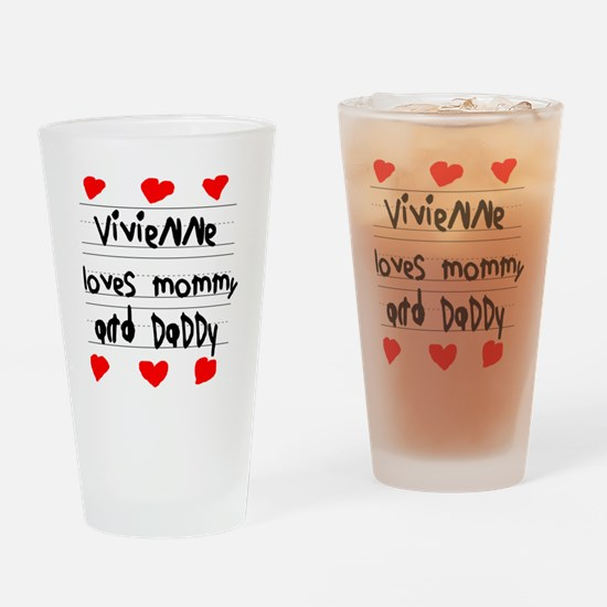 Vivienne Loves Mommy and Daddy Drinking Glass