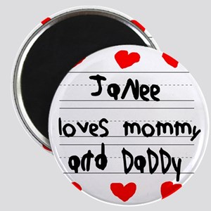 Janee Loves Mommy and Daddy Magnet