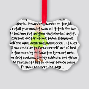 pharmacist story art 1 female Picture Ornament
