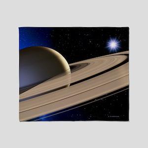 Saturn's rings Throw Blanket
