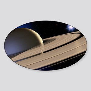 Saturn's rings Sticker (Oval)
