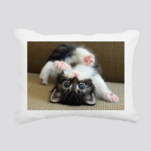 Goofy Kitten Rectangular Canvas Pillow