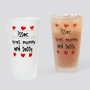 Issac Loves Mommy and Daddy Drinking Glass
