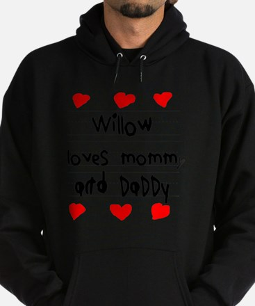 Willow Loves Mommy and Daddy Hoodie (dark)