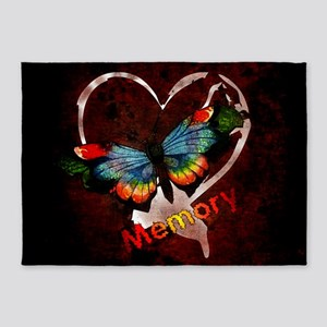 Memory Butterfly 5'x7'Area Rug