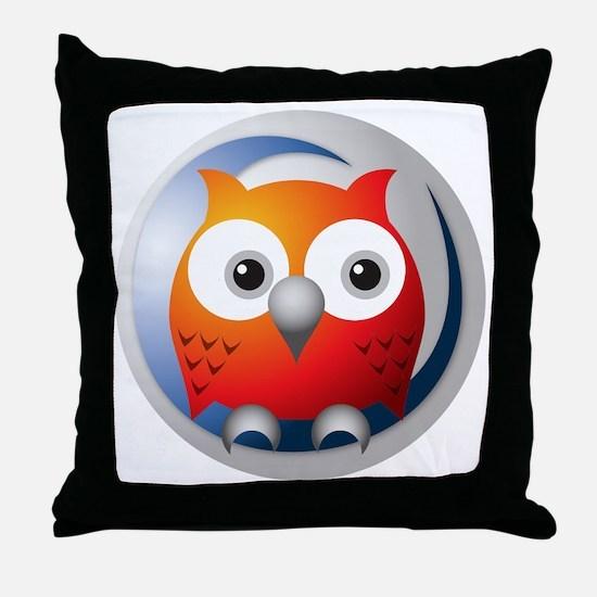 SWI-Prolog Owl Throw Pillow