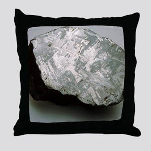 Sectioned iron meteorite Throw Pillow