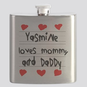 Yasmine Loves Mommy and Daddy Flask