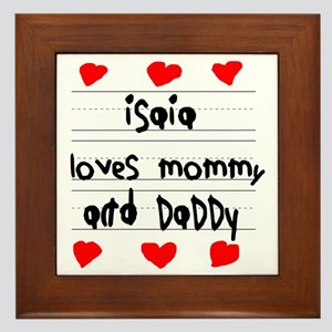 Isaia Loves Mommy and Daddy Framed Tile