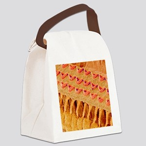 Sensory hair cells in ear, SEM Canvas Lunch Bag