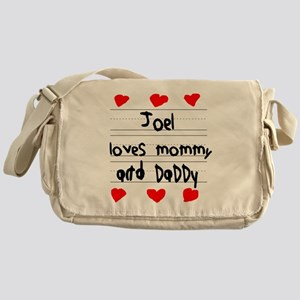 Joel Loves Mommy and Daddy Messenger Bag