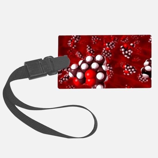 Artemisinin malaria drug molecul Luggage Tag