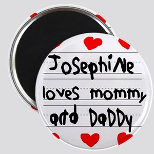 Josephine Loves Mommy and Daddy Magnet