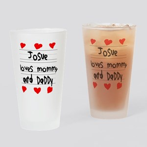 Josue Loves Mommy and Daddy Drinking Glass