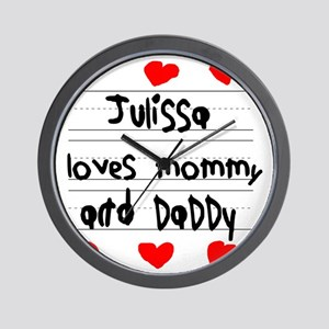 Julissa Loves Mommy and Daddy Wall Clock