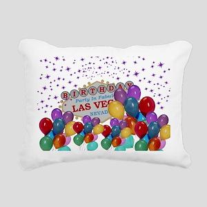 Floating Balloons Las Ve Rectangular Canvas Pillow