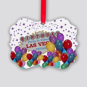 Floating Balloons Las Vegas Birth Picture Ornament