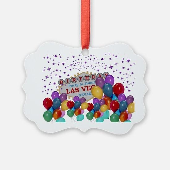 Floating Balloons Las Vegas Birth Ornament