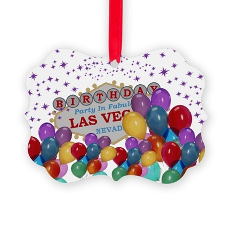 Floating Balloons Las Vegas Birth Ornament