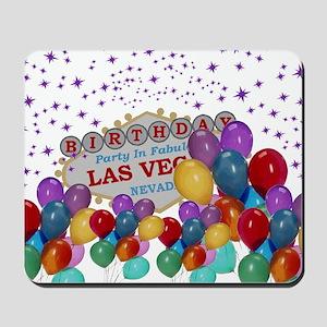 Floating Balloons Las Vegas Birthday Par Mousepad
