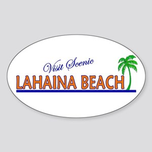 Visit Scenic Lahaina Beach, H Oval Sticker