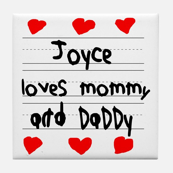 Joyce Loves Mommy and Daddy Tile Coaster