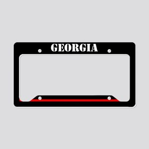 Georgia Fire And Rescue License Plate Holder