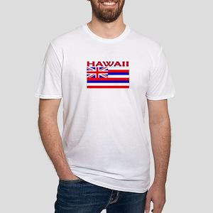 Hawaii Flag (Light) Fitted T-Shirt